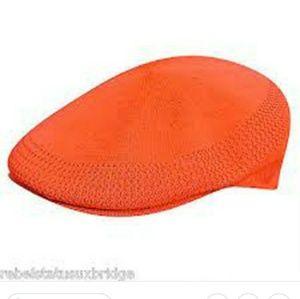 Kangol Mens Tropic 504 Newsboy Cap Hat Orange